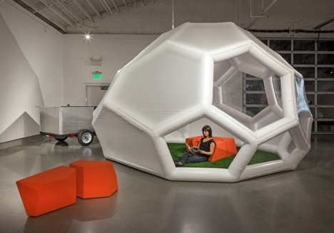 truckatecture inflatable dome home