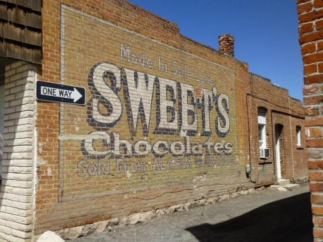 Utah Jesse Levy Sweets chocolate sign