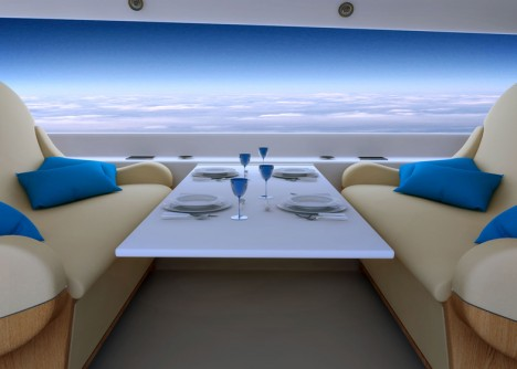 windowless jet interior view