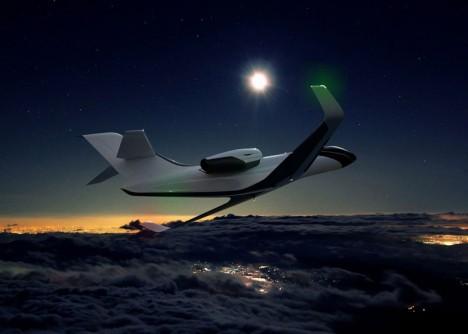 windowless jet night cruising