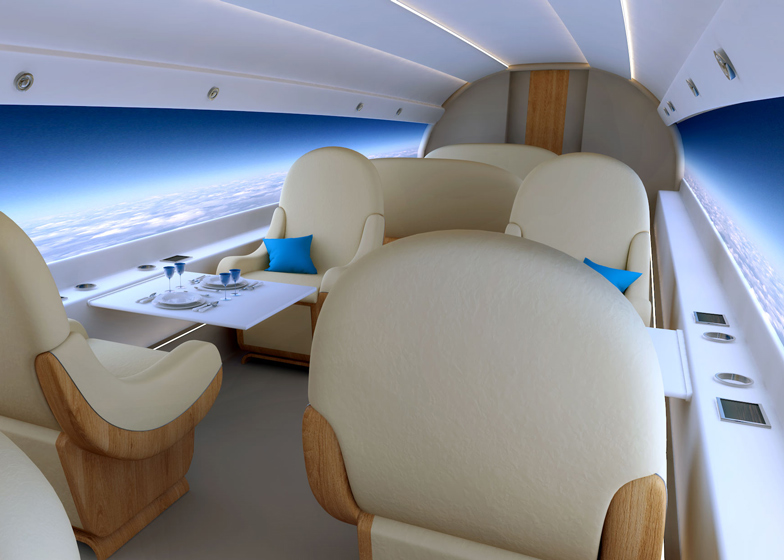 windowless jet panoramic projection
