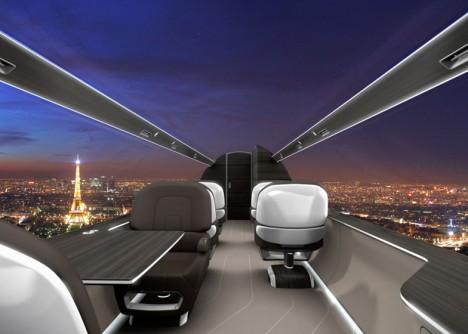 windowless plane city view