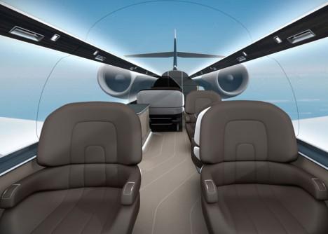windowless plane walls roof