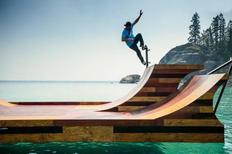 Floating Skateboard Ramp 4