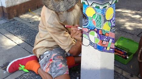 Freemantle Australia artistic bollards 1