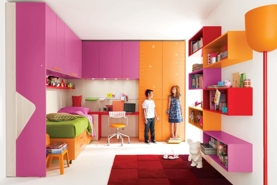 Modern modular transforming kids furniture 13 designs for Childrens bedroom wall designs