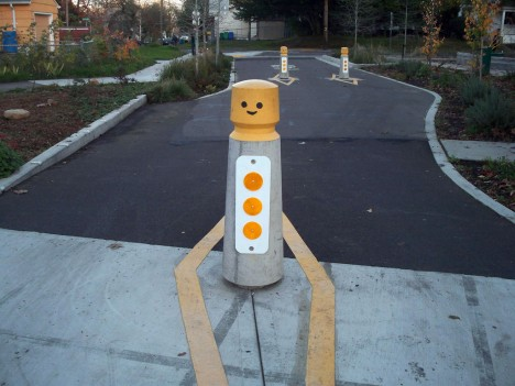 LEGO Man Traffic Bollard Woodlawn 1