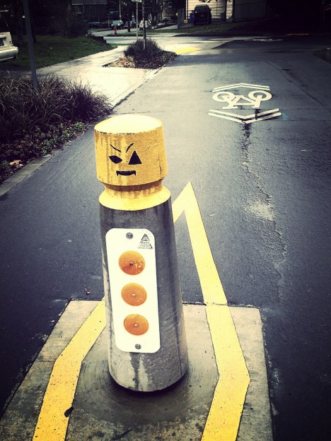 LEGO Man Traffic Bollard Woodlawn 2
