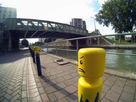 LEGO Man Traffic Bollards Le CyKlop Paris 1