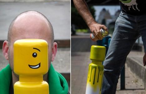 LEGO Man Traffic Bollards Le CyKlop Paris 2