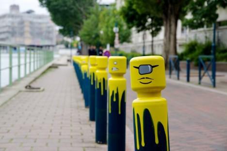 LEGO Man Traffic Bollards Le CyKlop Paris 3