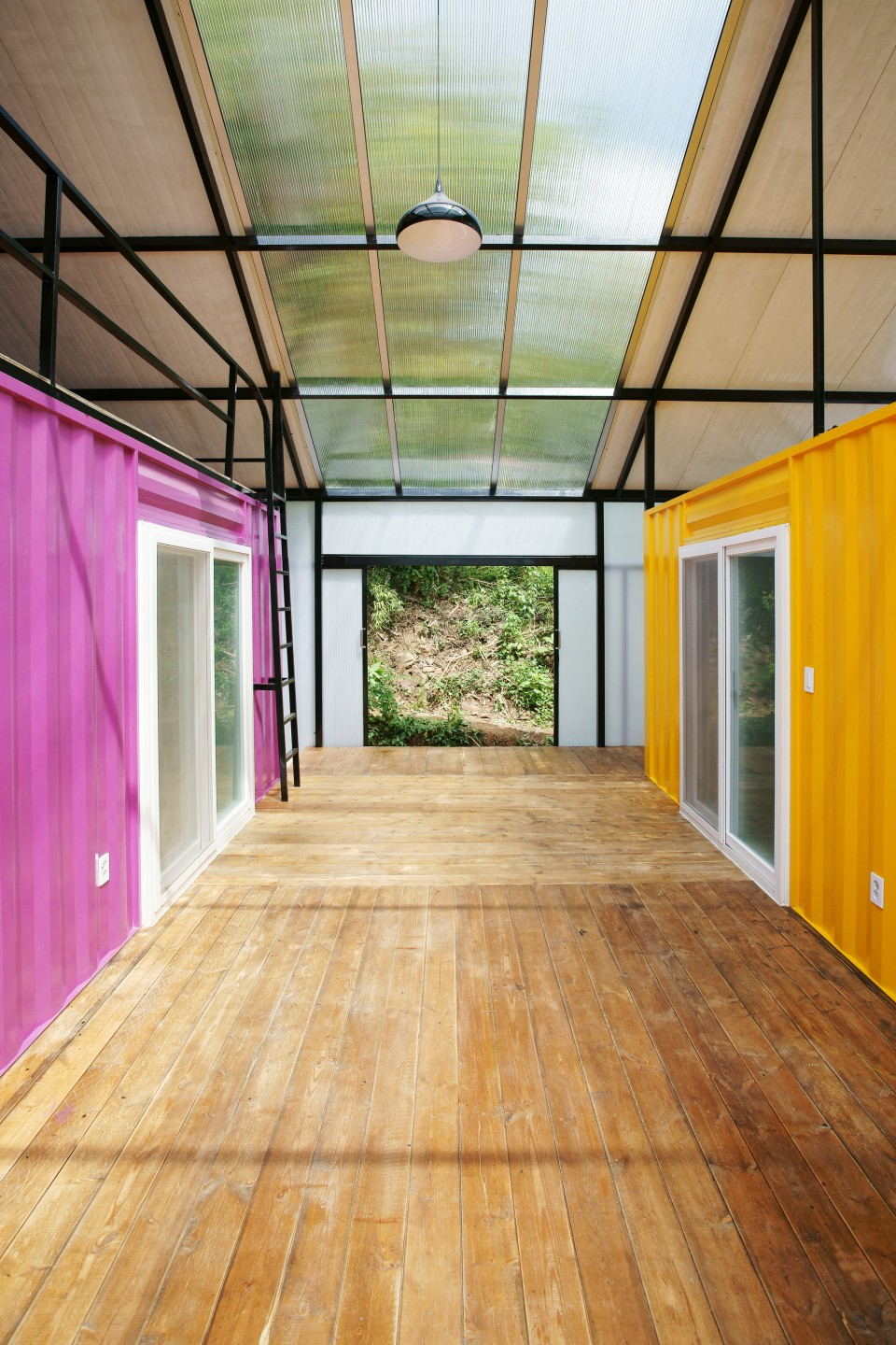 low cost house-in-a-house made of 2 shipping containers | urbanist