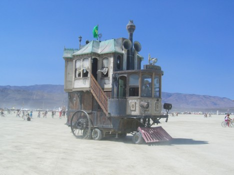 rvs rarely get more ornate than this a two story victorian house on wheels designed naturally for burning man the neverwas haul was built over six - Two Story Tiny House