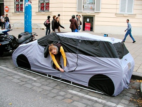 Parking Spot Hacks Car Shaped Tent