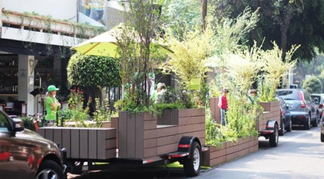 Parking Spot Hacks Transportable Garden