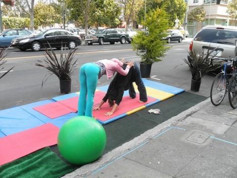 Parking Spot Hacks Yoga Studio