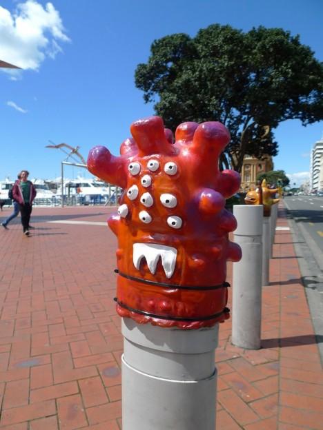Quay Street Traffic Bollard monsters Auckland Art Week 3