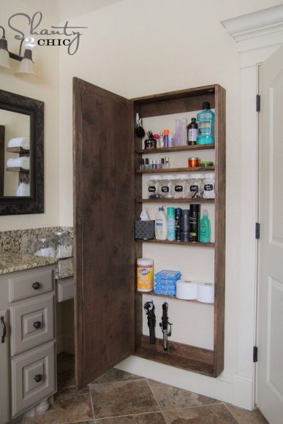 Small Space Hacks DIY Bathroom Cabinet