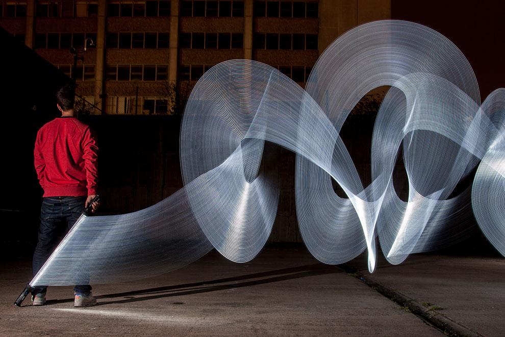 Phantom Monuments Haunting Works Of Light Graffiti By