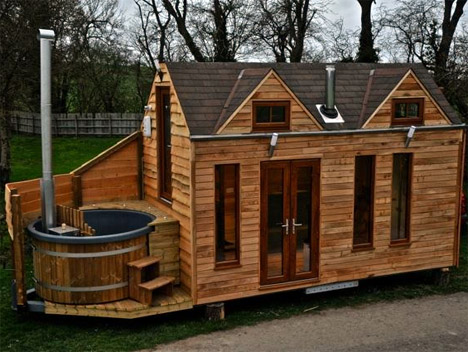 Tiny House On Wheels Plans tumbleweed houses Tiny House Hot Tub 1