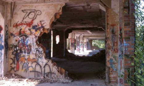 abandoned meat packing plant Navassa NC 4