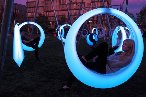 circular art swing project