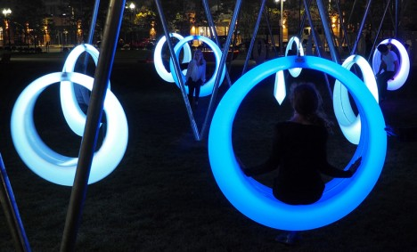 circular light up hammock