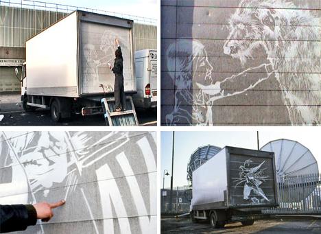 dirty truck art process