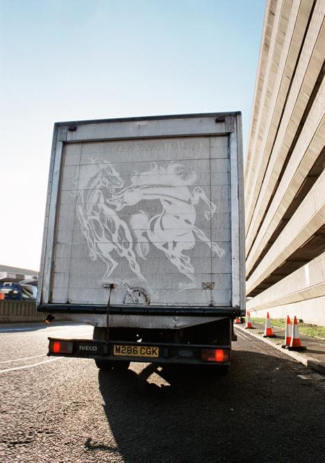 dirty truck road art