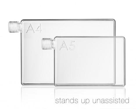 memo bottle stands up
