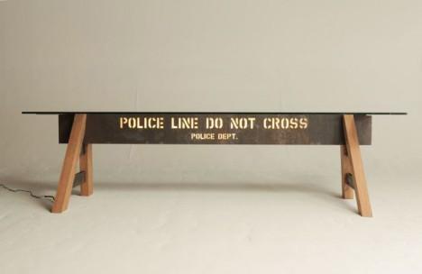 police barrier table light