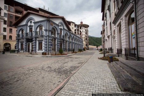 sochi deserted city streets