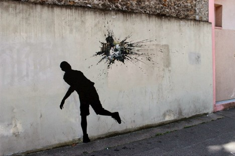 street art splatter paint
