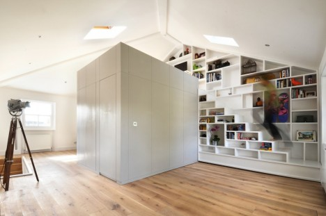 Compact Stairs Bookcase Loft 1