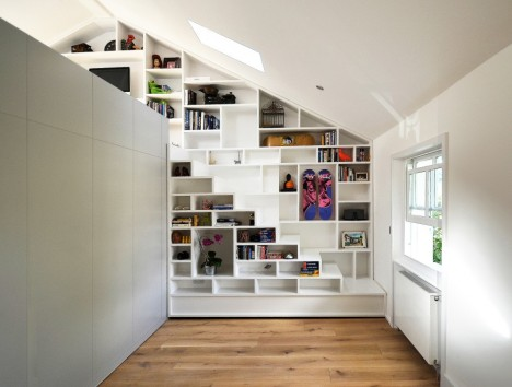 Compact Stairs Bookcase Loft 2