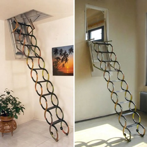 Compact Stairs Telescopic Steel