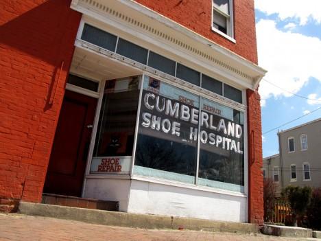 Cumberland Shoe Hospital abandoned shoe repair
