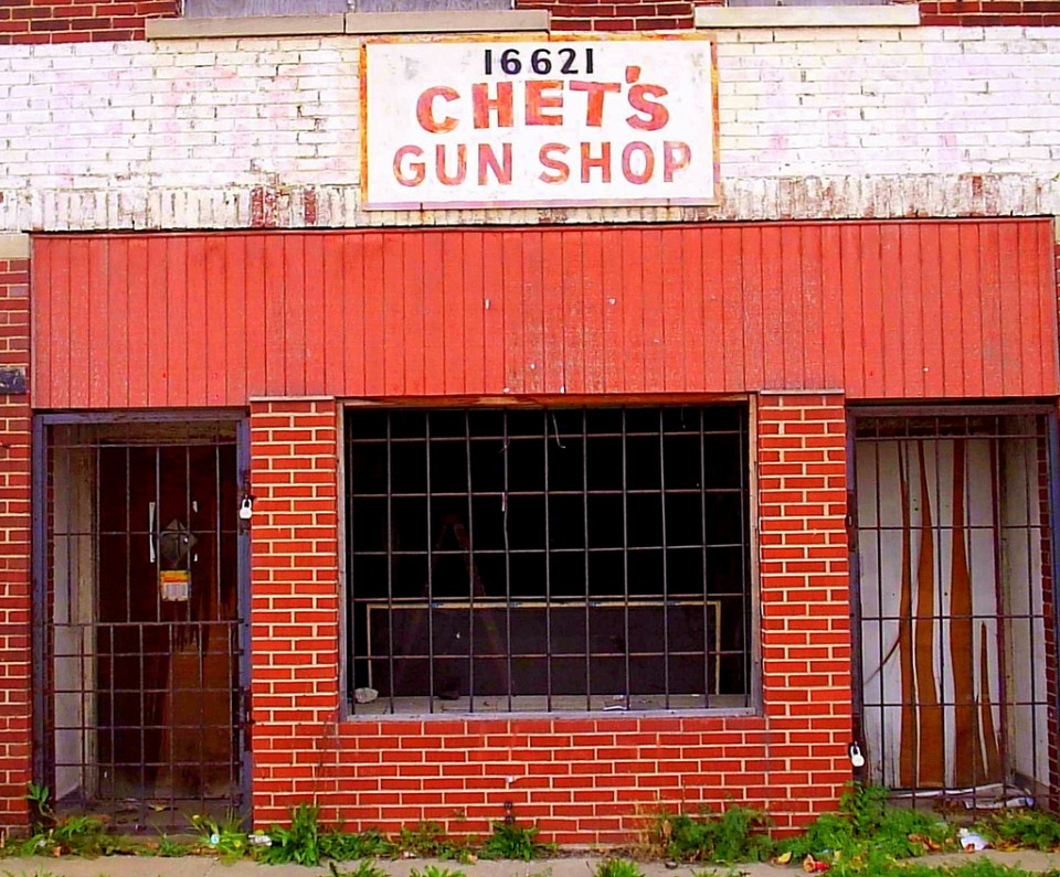 abandoned Chet's Gun Shop Detroit 2