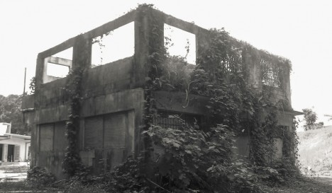 abandoned building corner view