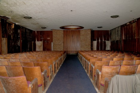 Abandoned Funeral Home Seats
