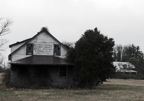 abandoned funeral home undertaker Aquasco Maryland