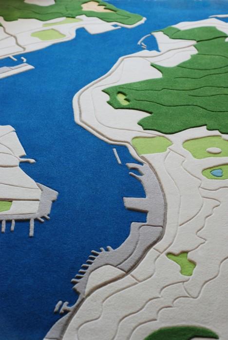 aerial rug design detail