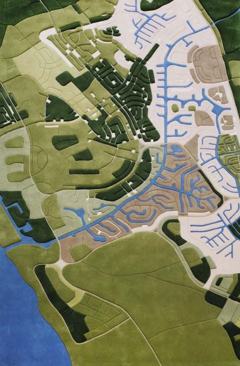 aerial urban suburban image
