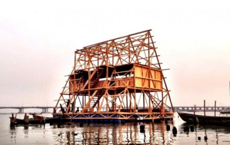 amphibious architecture floating school nigeria 1
