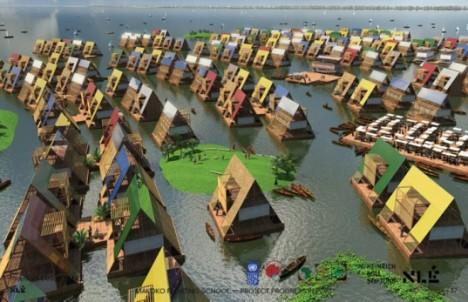 amphibious architecture floating school nigeria 2