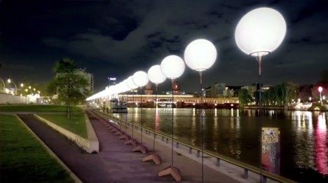 berlin wall night lights