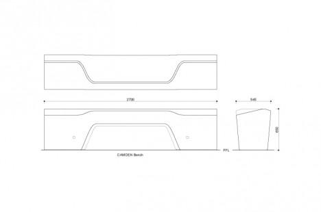 camden bench design diagram