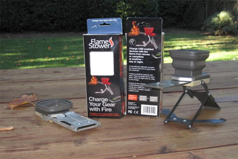 fire powered phone charger