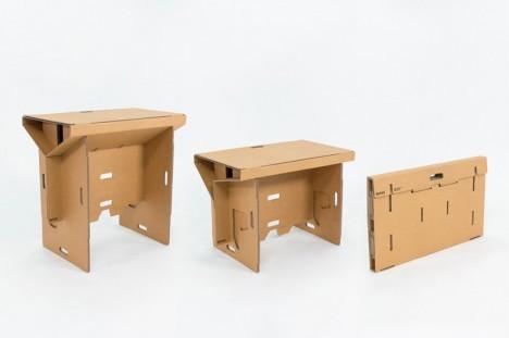 flat pack cardboard standing desk