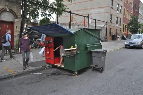 guerilla housing dumpster house 1